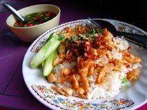 Alimento tailandés auténtico en Bangkok, Tailandia Fotografía de archivo