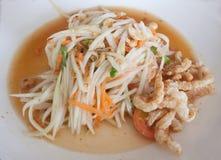 Alimento tailandés de la ensalada verde de la papaya Imagenes de archivo