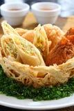 Alimento tailandés de la fritada Foto de archivo libre de regalías