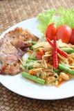 Alimento tailandés de Somtum Imágenes de archivo libres de regalías
