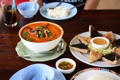 Alimento tailandés delicioso Imágenes de archivo libres de regalías