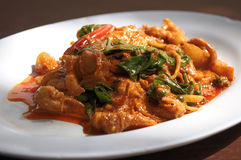 alimento tailandés delicioso, curry rojo Imágenes de archivo libres de regalías
