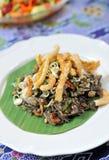 Alimento tailandés delicioso del estilo imagenes de archivo