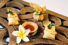 Alimento tailandés - entrada Foto de archivo libre de regalías