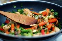 Alimento tailandés - fritada #5 del Stir Fotografía de archivo