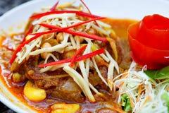 Alimento tailandés picante foto de archivo