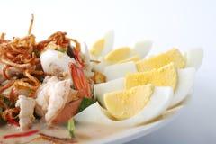 Alimento tailandés picante del curry de la gamba fotografía de archivo libre de regalías