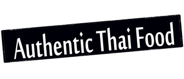 Alimento tailandês autêntico ilustração stock