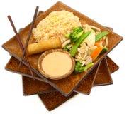 Alimento tailandês da galinha da ervilha de neve Fotografia de Stock