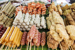 Alimento tailandês da rua foto de stock