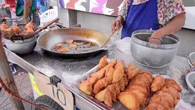 Alimento tailandês da rua filme