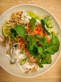 Alimento tailandês da salada dos macarronetes de Tailândia Imagem de Stock Royalty Free