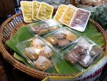 Alimento tailandês da sobremesa Foto de Stock Royalty Free