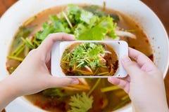Alimento tailandês da sopa de Tom Yum imagem de stock royalty free