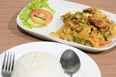 Alimento tailandês do caranguejo, alimento tailandês Fotografia de Stock Royalty Free