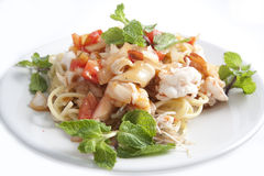 Alimento tailandês do espaguete Fotografia de Stock