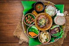 Alimento tailandês do norte da tradição imagens de stock