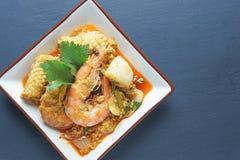 Alimento tailandês do poppula de Tom Yum Goong Fotos de Stock