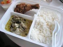 Alimento tailandês em uma lancheira do bento Fotos de Stock