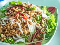 Alimento tailandês, foo do duk do pla do 'batata doce' imagem de stock
