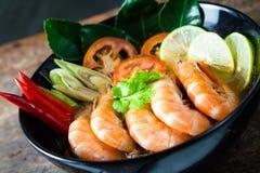 Alimento tailandês - fritada #6 do Stir Goong de Tom Yum fotos de stock