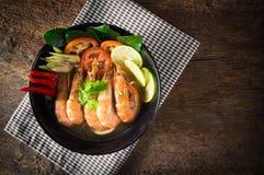 Alimento tailandês - fritada #6 do Stir Goong de Tom Yum foto de stock royalty free