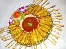 Alimento tailandês, gai sa tay Fotografia de Stock Royalty Free