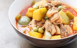 Alimento tailandês - galinha do caril com abóbora Foto de Stock