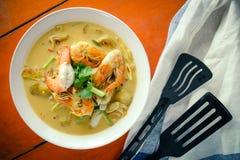 Alimento tailandês na tabela Foto de Stock Royalty Free