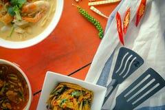 Alimento tailandês na tabela Fotos de Stock