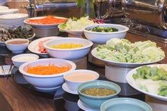 Alimento tailandês no hotel Imagens de Stock