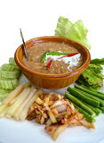 Alimento tailandês, peixe com molho do leite de coco Imagem de Stock
