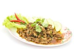 Alimento tailandês tradicional, salada triturada picante da carne de porco Fotos de Stock Royalty Free