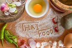 Alimento tailandese che cucina gli ingredienti Fotografia Stock Libera da Diritti