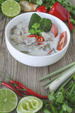 Alimento tailandese, cucina tailandese, erbe tailandesi, ingrediente di Aian Fotografia Stock