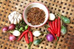 Alimento tailandese dei peperoncini rossi fotografia stock