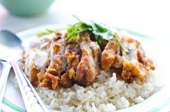 Alimento tailandese del pollo. Immagini Stock