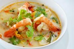 Alimento tailandese del Tom Yum Goong Fotografia Stock Libera da Diritti