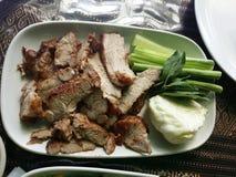 Alimento tailandese del treno Fotografia Stock