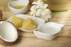 Alimento tailandese dell'asiatico del dessert fotografia stock libera da diritti