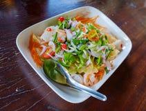 Alimento tailandese dell'insalata Immagini Stock