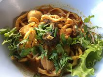 Alimento tailandese della soia di khao di soi di Khao Fotografia Stock