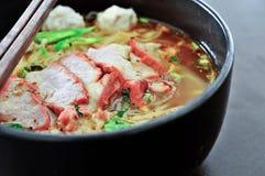 Alimento tailandese della tagliatella Fotografie Stock