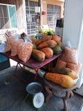 Alimento tailandese della via della frutta immagine stock