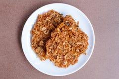 Alimento tailandese della via, gamberetto croccante, Fried Krill Fotografia Stock Libera da Diritti