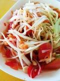 Alimento tailandese della via raccomandato Fotografia Stock Libera da Diritti