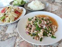 Alimento tailandese della via raccomandato Fotografia Stock