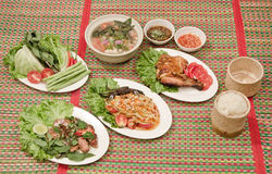 Alimento tailandese di nordest Immagine Stock
