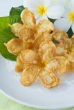 Alimento tailandese, frowers fritti nel grasso bollente Fotografia Stock