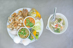 Alimento tailandese nordico Fotografie Stock